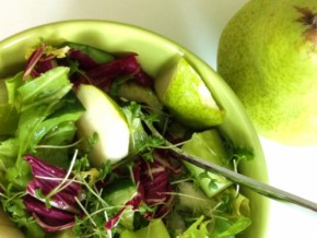 Radicchio, Cress, and Pear Salad